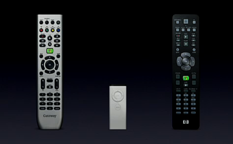 Apple remote vs. Microsoft remote